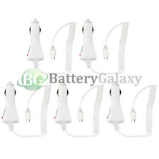 5 White Micro USB Battery Car Power Charger Adapter for Android Cell Phone