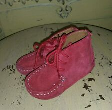 COLE HAAN FUCHSIA SUEDE BABY INFANT MOCCASINS GIRL SHOES MOCS