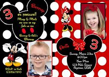 Mickey Mouse Birthday Invitation, Minnie Mouse Birthday Invitations, Mickey