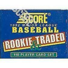 1992 Score Rookie and Traded Baseball Factory Set - 110 Card Factory Sealed Set