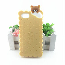 Rilakkuma Kumamon Beige Soft Rubber Phone Cover For iPhone 7 Case Siliconehtt