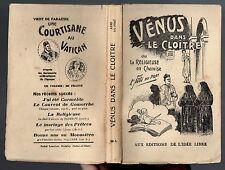 ROMAN LIBERTIN DU XVIIIe L'ABBE DU PRAT VENUS DANS LE CLOITRE LIBRE PENSEUR