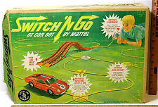 Vintage 1965 Switch 'N Go GT Car Set Mattel #6111 Bridges Hoses Air Pump Car +++