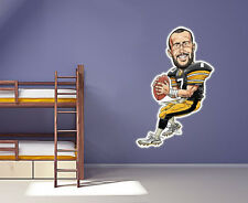 Ben Roethlisberger  low-tac wall decal Large 24 inch Move and Re-use Steelers