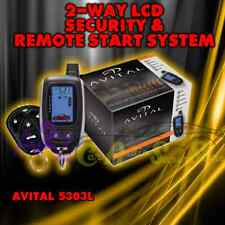 AVITAL 5303L 2-WAY CAR ALARM SYSTEM REMOTE START KEYLESS SAME AS VIPER 875XV 875