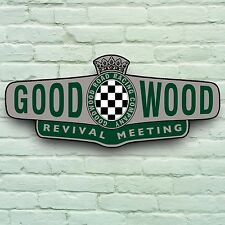 2FT GOODWOOD REVIVAL TRACK MEETING HISTORIC CLASSIC CAR SIGN GARAGE WALL PLAQUE