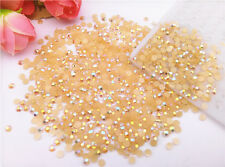 Jelly AB Champagne 3mm 1000pcs Crystal Lot Facets Resin Flat Back Rhinestone