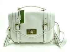 NWT Oryany Shoulde Italian Leather White Flap &Turn Lock Entry Golden Hardware