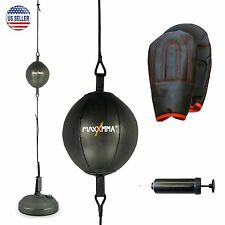 MaxxMMA Double End Striking Punching Bag Kit w/gloves and pump!