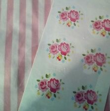 NEW - Special Occasion Paper Treat Bags x10 Shabby Chic Pink & Floral stickers