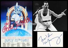 QUEEN AT WEMBLEY LIVE AID 1985 FREDDIE MERCURY SIGNED (PRINTED) EXCLUSIVE PRINT