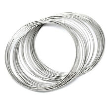 200 LOOPS SILVERTONE BRACELET MEMORY WIRE 55mm - 60mm~BEADING~JEWELLERY (Z1) UK