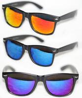 Retro Sonnenbrille Hippster schwarz matt gold rot blau grün lila verspiegelt 26