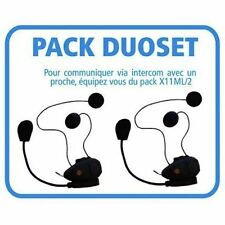 2 Kit mains libres bluetooth avec Radio FM et intercom X11ML/2 - BEEPER