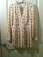 long sleeve v neck floral dress by Free People size 0