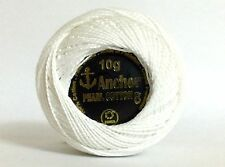 1 x Solid Colour Anchor Crochet Cotton embroidery thread Ball - WHITE COLOR