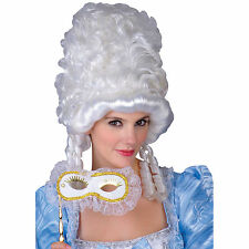 Marie Antoinette Masquerade White Fancy Dress Halloween Costume Accessory Wig