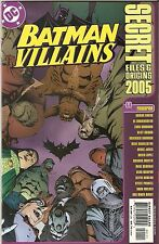 Batman '05 Villains Secret Files and Origins 1 NM A4