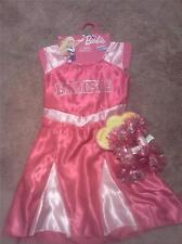 BARBIE PINK CHEERLEADER COSTUME DRESS WITH POM-POMS (SIZE 4-6X)