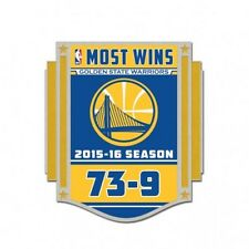 Golden State Warriors Record 73-9 Record Lapel Pin Brand New
