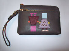 NWT Fossil Sofia Gray Leather Wristlet Wallet/Purse