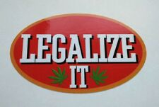 LEGALIZE IT VINYL STICKER Philly Blunt Weed 420 cannabis marijuana tosh stoner