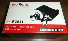 Evolis R3011 Color Ribbon 5 Panel YMCKO 200 Images for Pebble Dualys Securion