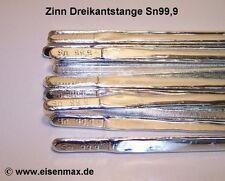 1 kg Reinzinn Sn99,9 Zinngiessen Zinnguss Zinnbarren Zinnfiguren Zinnstangen tin