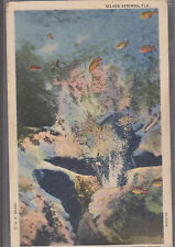 Silver Springs Florida Glass Bottom Boat Stamped 1937   # A2