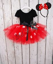Girls Minnie Mouse Xmas Party Ballet Tutu Dance Dress Halloween Costume Outfits