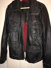 men's Superdry BRAD leather jacket, size large