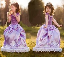 Sofia The First DELUXE Dress Princess Sophia Costume Party Gown Cosplay Purple