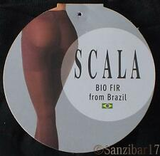 New Pack Of 5 Scala Active Bio Crystals Anti-Cellulite Black Slimming Tights M