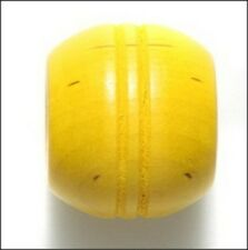 Yellow Wood Grooved Large Barrel Beads