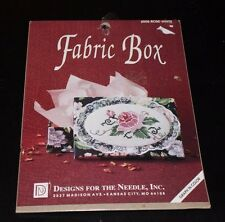 Fabric Box Rose White Designs for the Needle Cross stitch kit1992