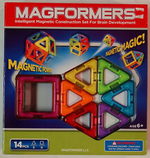 New! Magformers 14 Piece Set Magnetic Building Toy
