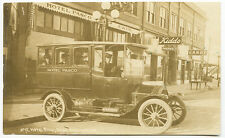 Pasco WA Street View Early Bus Type Auto RPPC Real Photo Postcard
