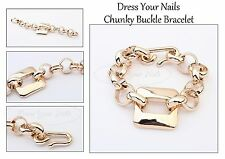 Chunky Buckle Chain - Gold coloured Bracelet Wrist