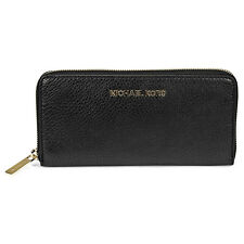 Michael Kors Bedford Black Leather Continental Wallet