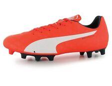 Puma Evo Speed 5 Herren Nocken Fußball Schuh Orange Weiß Größe 44,5;  UK 10 Neu