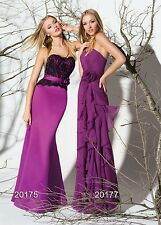 Impression 20175 Size 14 Iris Purple Black Lace Prom Bridesmaid Dress NWT $249