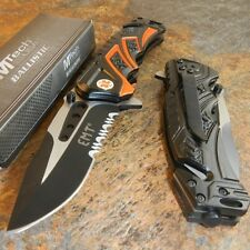 MTech BALLISTIC Assisted Opening Rescue EMT EMS BLACK Glass Breaker RESCUE Knife