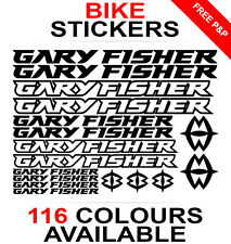Gary Fisher decals stickers sheet (cycling, mtb, bmx, road, bike) die-cut logo