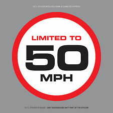 SKU1114 - LIMITED TO 50 MPH Vehicle Speed Restriction Sticker Vinyl Car Van 80mm