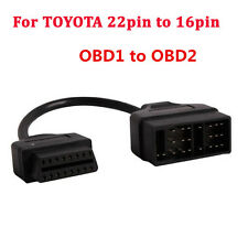 For TOYOTA Lexus 22pin to 16pin Cable OBD1 to OBD2 Connect Cable Adapter Cable