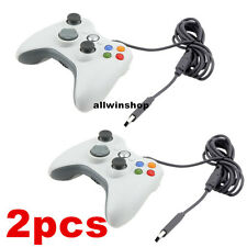 2x White Wireless Game Remote Controller for Microsoft Xbox 360 Console US Sell