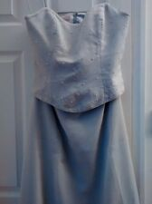 Silver grey bridesmaid/prom dress (two-piece) approx size 12-14