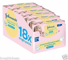 Johnson's Baby Extra Sensitive Fragrance Free Wipes -Pack of 18 Total 1008 Wipes