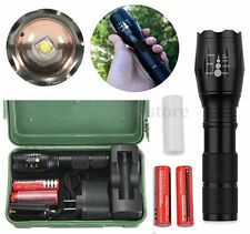 3000Lm T6 LED Zoomable 18650 AAA Flashlight Torch Light With Charger