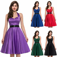 Petticoat Sexy VINTAGE Retro 50s Swing Pinup Party Halter Prom Dress